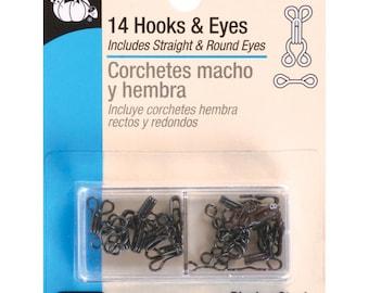 Dritz 14 Hooks & Eyes Size 2 #90-2-1