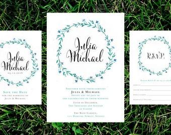 Garden Wedding Invitation Suite – Printable