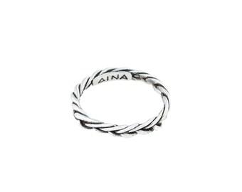 BRAID handmade sterling silver ring