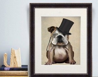 gift for dog lovers - English Bulldog Print - boyfriend birthday gift idea college student gifts for husband English Bulldog lover funny dog