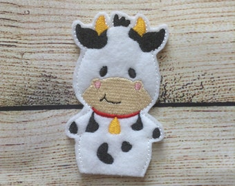 Cow Finger Puppet,  Pretend Play, Imagination, Easter Basket, Road Trip, Kids, Quiet Time, Barnyard, Farm, Safari