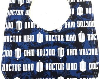Doctor Who Bib - Baby Bib -  Infant Bib - Dribble  bib - Tardis bib  - dr who - Geek Baby - Baby Shower