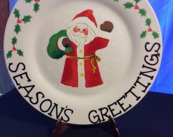 Christmas Santa Display Plate