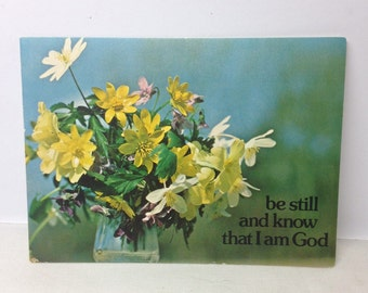 vintage Get well card - 1960s get well card - vintage prayer card - vintage religious card - vintage church