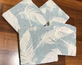 Feathers Coasters Handmade