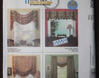 McCalls 4802 Home Dec In A Sec   Valance, Shade and Curtain Panels
