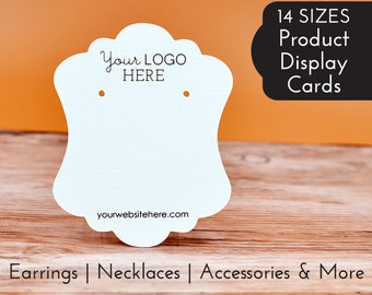 Custom Earring Display Cards with your Logo