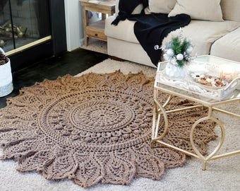 MOMENTOUS OCCASION; crochet Rug / doily pattern; pdf; Kristoffersen; Home decor; Popular Crochet Rug; thread; ePattern; DIY, Cottage; Shabby