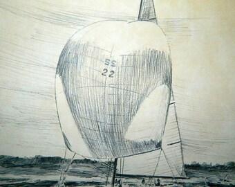 Intrepid 1970 - 12x16 Sketch - By Robert James Pailthorpe