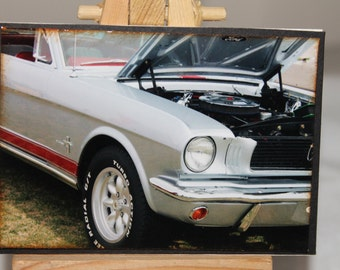 ACEO, Artist Trading Card, classic car photograph, Mustang