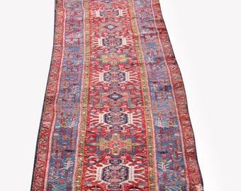Rare Vintage Persian Karajeh Oriental Long Runner Rug  rr2960  With extra off now