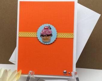Birthday Card, Cupcake Note Card, Cupcake Stationary, Cupcake Blank Card, All Occasion Card, Card for Friend