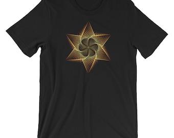 Geometric Geometry Optical Illusion Star Trippy Art Yoga Work Out t-shirt