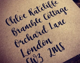 Hand written envelopes and stationery