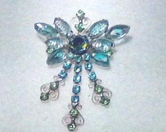 "Juliana D & E Blue ""Butterfly""  Brooch / Book Piece / Also shown in Data Base wwwisitjulianajewelry? Reference # 398"