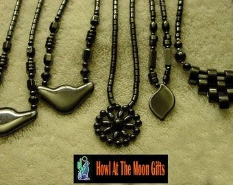 Hematite Necklace with various Hematite Pendants   CLEARANCE