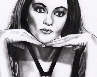 Lily Munster A4 Drawing Print