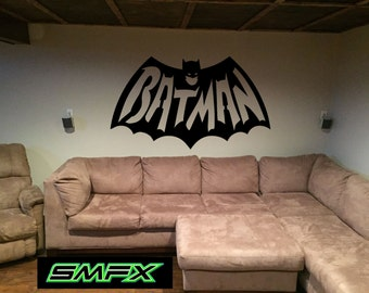 Batman Man cave sign Mancave metal wall art sign