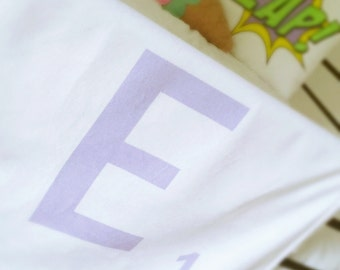 Personalised Letter Blanket - Pastel Baby Blanket - Scrabble Style Blanket - Pastel Nursery - Gender Neutral Nursery - Pastel Decor