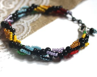 Rainbow bracelet Bead bracelet Bracelet from beads Bracelet rainbow Seed bead bracelet Gift for best friend bracelet Colorful bracelet