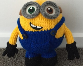 Bob the Minion Knitting Pattern PDF