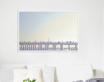 "Oversize Beach Art // Boardwalk Photography // Large Wall Art Brooklyn // Beach Photography -  Large Archival Print Coney Island 60x40"""