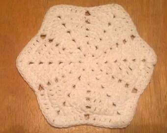 Handmade Crocheted Star Dishcloth