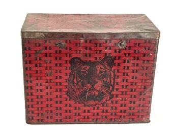 Tiger Chewing Tobacco Litho Tin Box