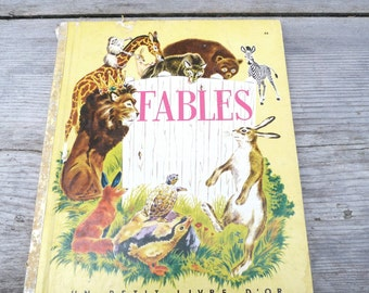 Vintage 1950/50s French childrens book Fables