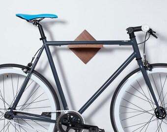 Bike Rack Bike Shelf. Wood Bike Wall Mount. Modern Minimalist Bike Storage. Bike Stand. Handmade Affordable Bike Furniture Bike Display Art.