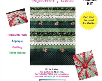 Tuffet Fabric Kit - Showers of Green