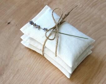 Sachets de lavande blanc, respectueux de l'environnement parfumé Sachets, Sachets de tiroir pour le minimaliste Modern