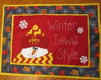 Iowa State University ...Winter Iowa Style Hanging or Table Topper