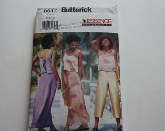 Butterick 6647. UNCUT Pattern Misses Top, Skirt and Pants