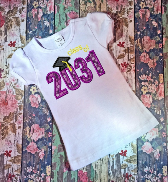 Class of 2031 Appliqué embroidery Design - graduation appliqué design - school appliqué design