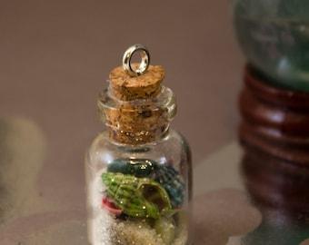 Seaside Memories Bottle Charm Pendant