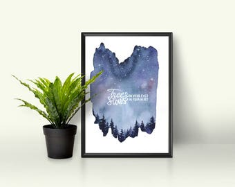 Raven Cycle Inspired A4 Watercolour Wall Art Print 300gsm Gesso Paper