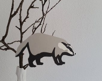 Paper Pendant badger