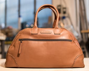 Leather handmade travel bag - Magnani (made in Italy)