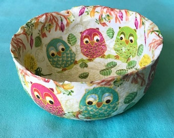 VINTAGE PERCHED OWLS