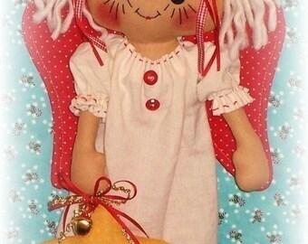 Angel Pattern, PDF pattern, Christmas Decoration, Rag Doll Pattern, Cloth doll Pattern, Sewing Pattern, primitive raggedy ann, annie,