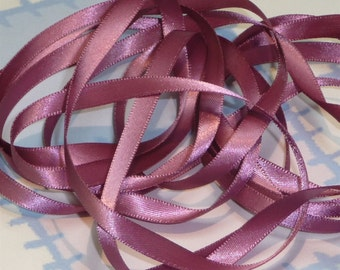 VICTORIAN ROSE DouBLe FaCeD SaTiN RiBBoN, Polyester 1/4 inch wide, 5 Yards