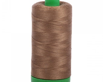 Aurifil 40wt Thread - Dark Sandstone 1318 - 1094 yards, 1000 Meter