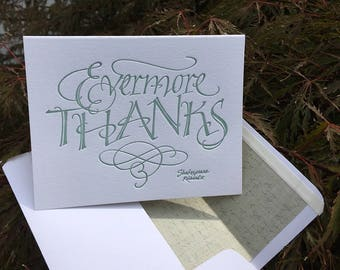Thank You Card (Letterpressed Calligraphy)