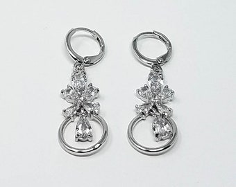 14K Gold Filled White Gold Earrings Dangle and Drop Earrings/ Free Shipping in the US!