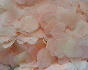 1500 pieces handmade biodegradable wedding confetti- peach pale pink and ivory blush confetti
