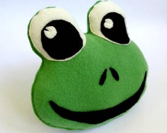 Frog Pillow - Woodland Animal - Babyshower Gift - Frog Soft Toy - Woodland Babyshower - Novelty Pillow - Frog Plushie.