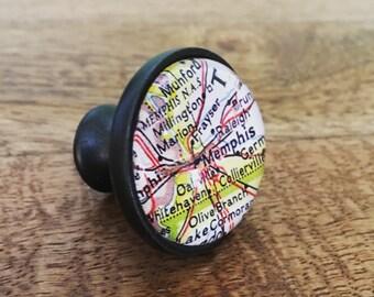 Memphis Map Cabinet Knob - Custom Drawer Pull - DIY - Kitchen Remodel - Oil-Rubbed Brass - Renovation - HGTV