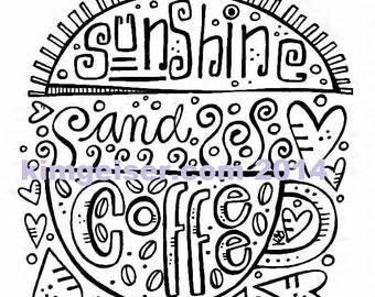Sunshine and coffee digital download