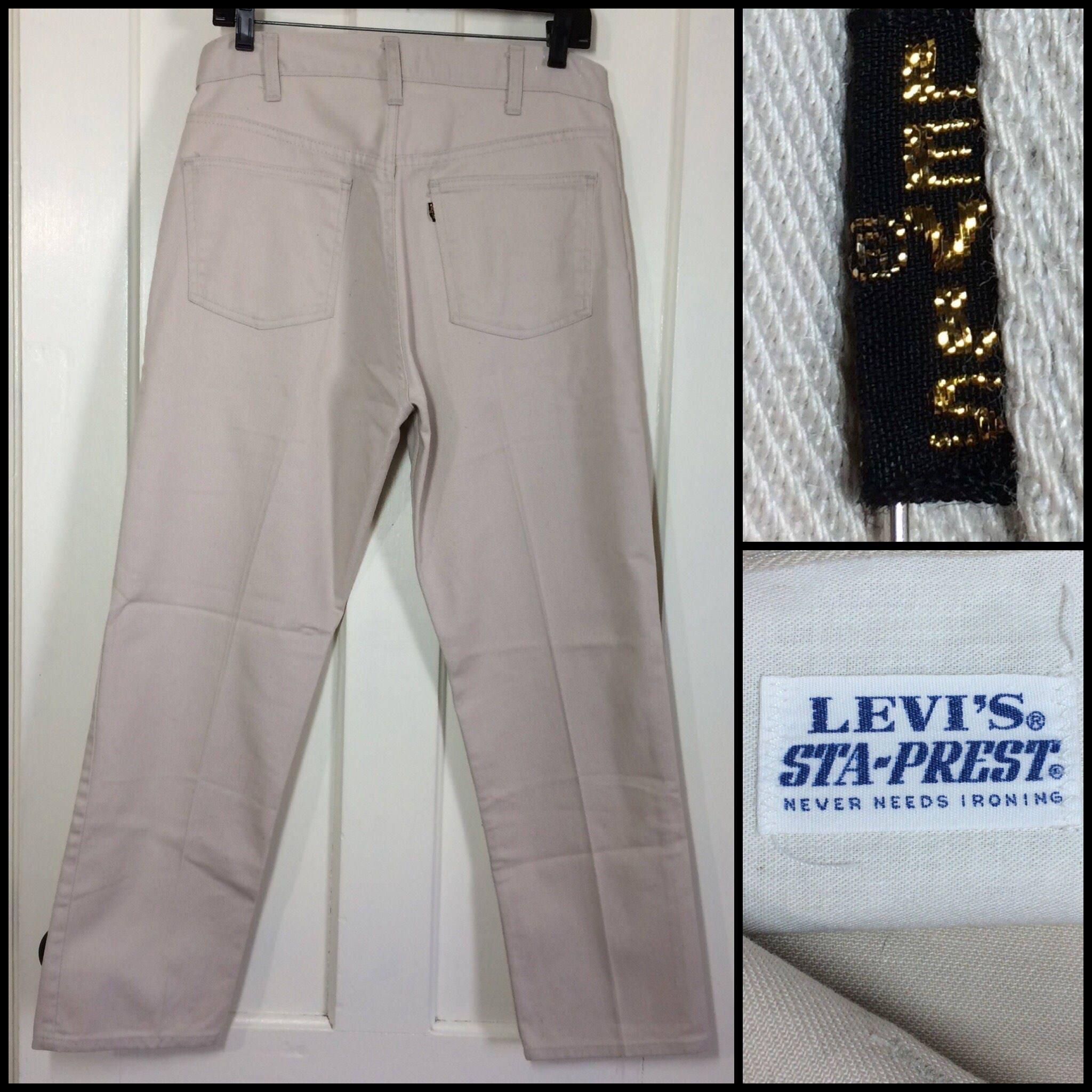 Vintage 60/70 Levis Sta Prest Big 'E' Made in Usa V7h5dF